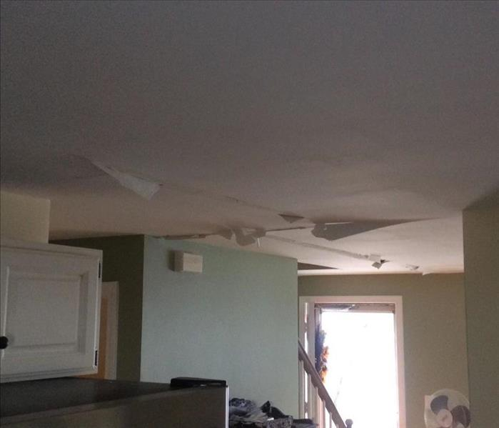 Kitchen ceiling soaked
