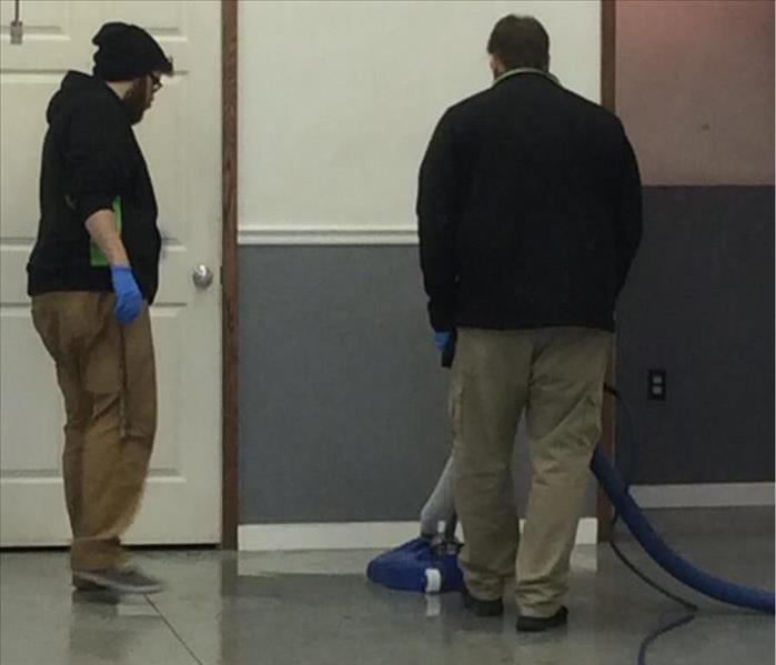 SERVPRO technician on training