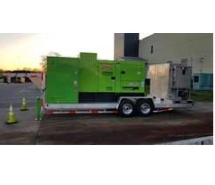 SERVPRO Commercial drying equipment