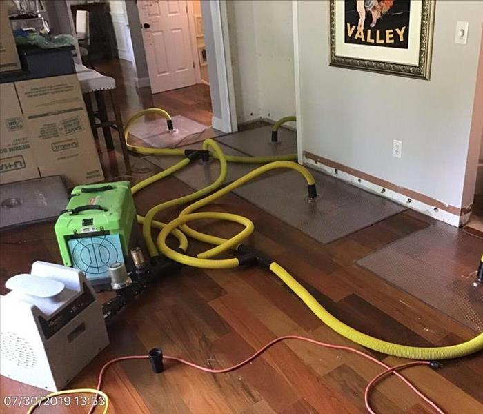Floor mats system set up on Cherry hard wood floor