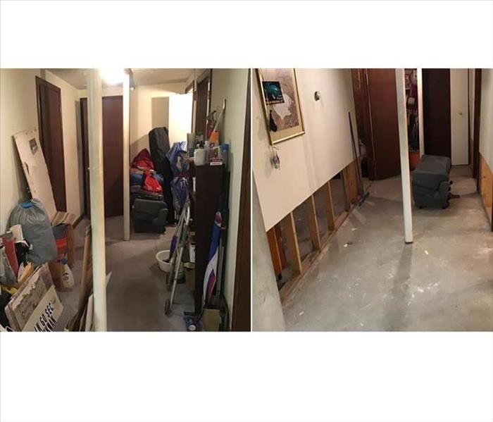 Finished basement flooded