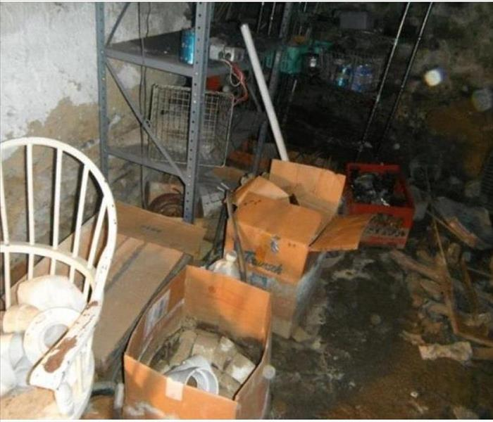 Water Damage Water Damage - Basement Flooded - SERVPRO of Manchester-East has got you covered